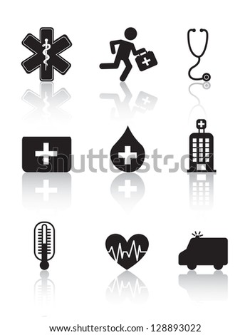 Health icons over white background vector illustration - stock vector