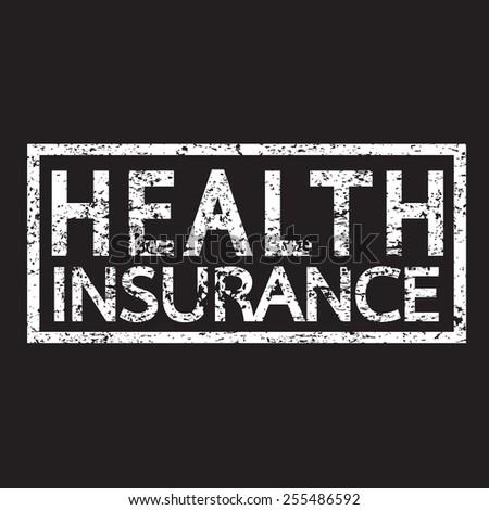 Health Insurance Word - stock vector