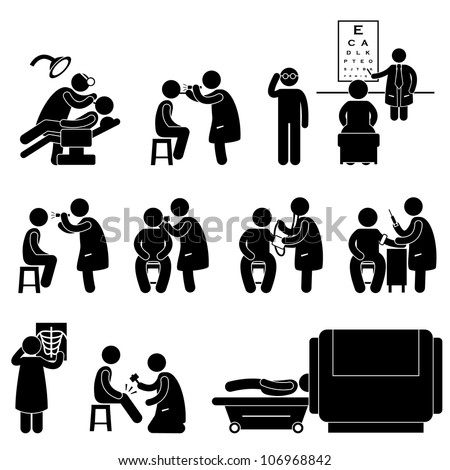 Health Medical Body Check Up Examination Test Icon Symbol Sign Pictogram