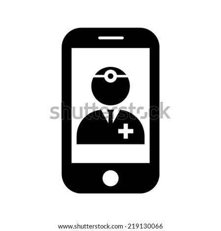 health online vector icon - stock vector