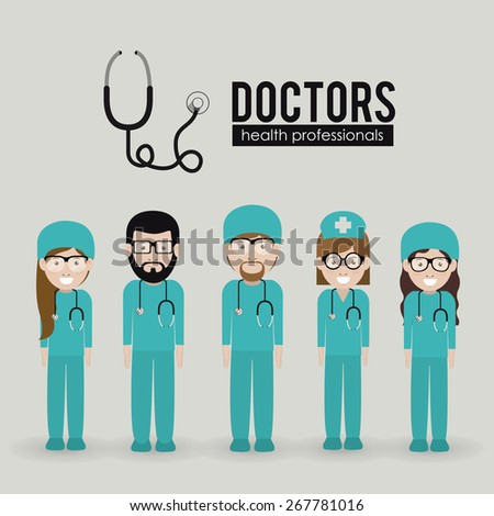 Health professional design over white background, vector illustration