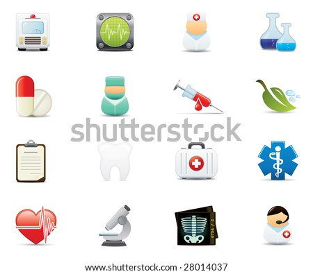 Healthcare and Medical Icon Set. Easy To Edit Vector Image. - stock vector