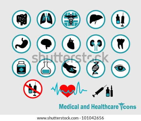 Healthcare and medical icons - stock vector