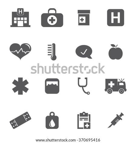 Healthcare Icon Set - stock vector