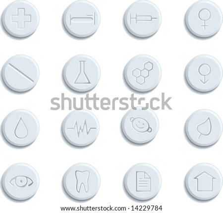 Healthcare & Pharma icons - stock vector