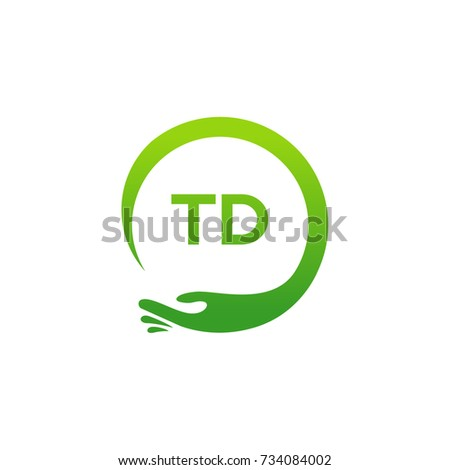 Healthcare Td Initial Logo Designs Template Stock Vector 734084002
