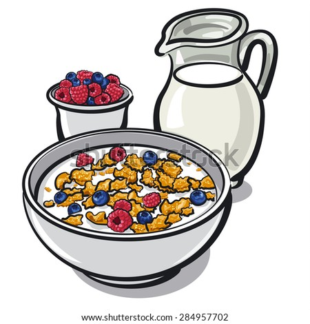 Image Gallery healthy cereal cartoon