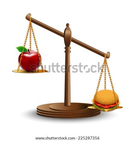 Healthy eating - stock vector