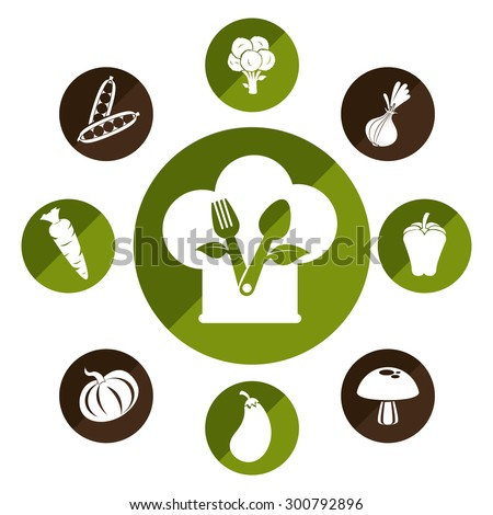 healthy food design, vector illustration eps 10. - stock vector