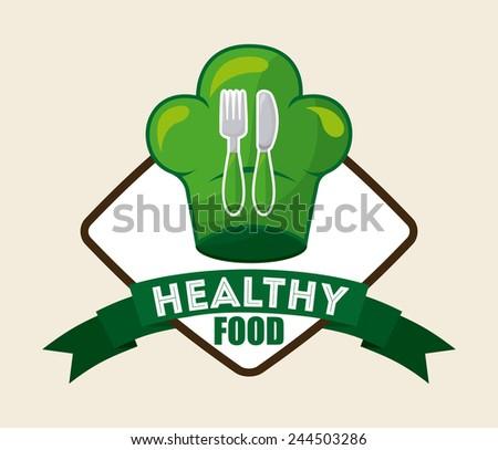 healthy food design, vector illustration eps10 graphic - stock vector