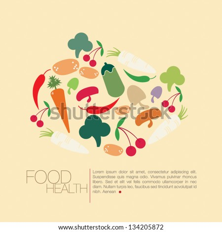 healthy food icon. vector illustration - stock vector