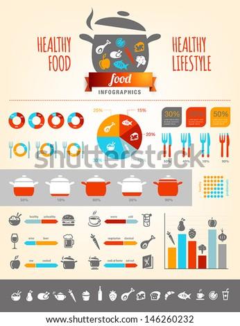 Healthy Food Infographics - stock vector