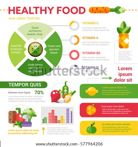 Health Nutrition Food By Group Infographic Stock Vector 303677363 ...
