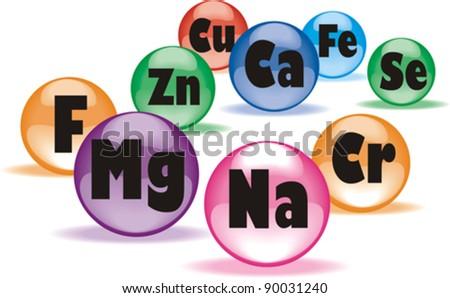 Healthy life concept. Colored medicine capsules set. Vector Illustration - stock vector