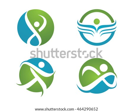 Healthy Life icon Logo template