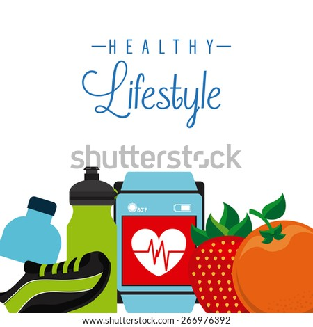 healthy lifestyle design, vector illustration eps10 graphic  - stock vector
