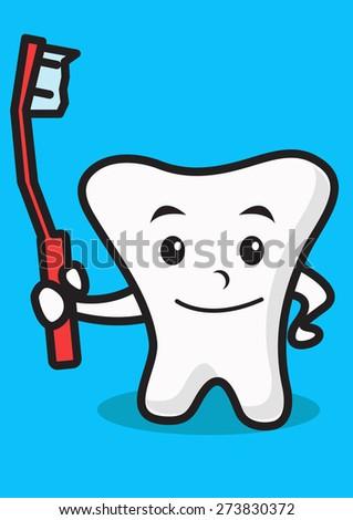 healthy teeth - stock vector