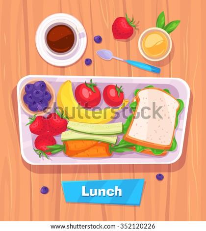 Lunch Stock Vectors, Images & Vector Art | Shutterstock