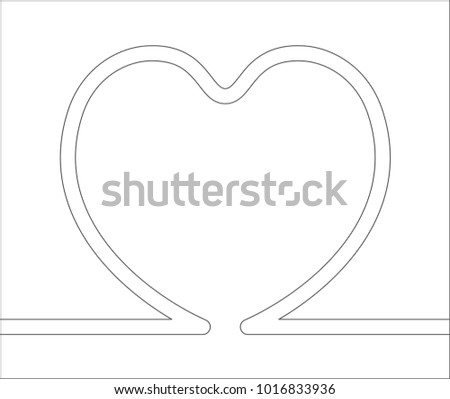 heart abstract outline icon