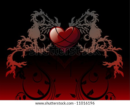heart abstract vector composition