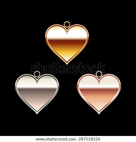 Heart accessory illustration. - stock vector