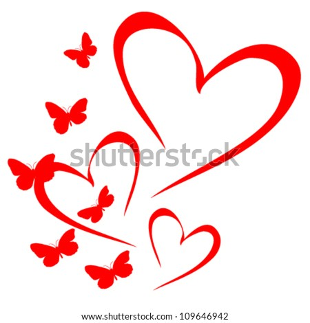 Pics photos heart black wallpaper romantic love pictures - Butterfly Heart Stock Images Royalty Free Images