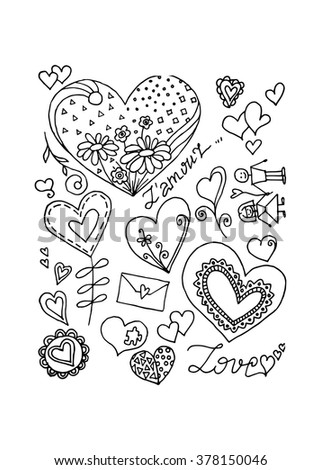 Heart and love, vector illustration
