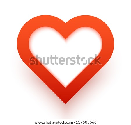 Heart applique background. Vector illustration for your design. - stock vector