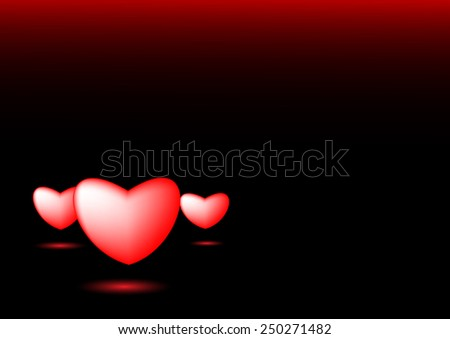 Heart background vector graphics and text