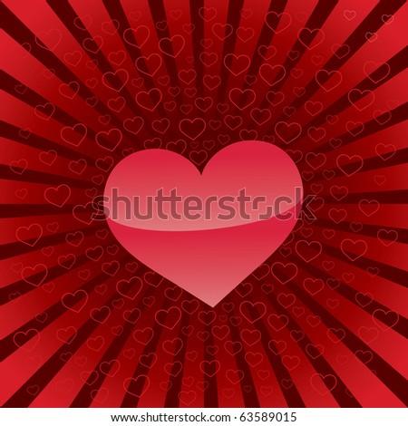 Heart backgrounds, valentine's day illustration - stock vector