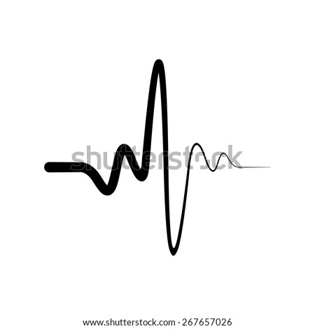 Heart beat, Cardiogram, Medical icon - Vector - stock vector