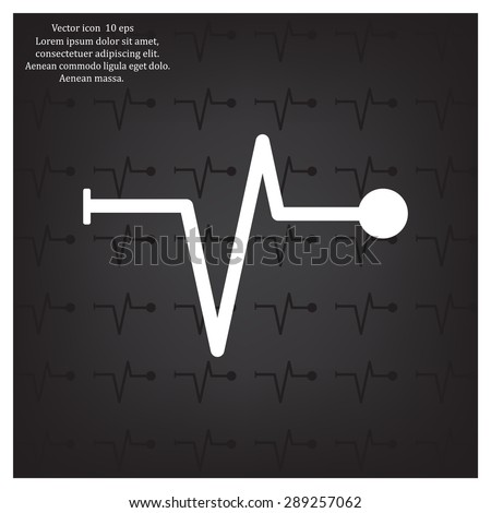 Heart beat, cardiogram. Pulse icon