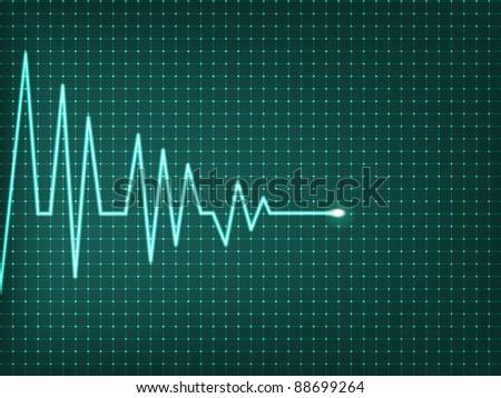 Heart beats cardiogram - vector illustration - stock vector