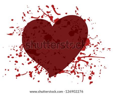Heart blood - stock vector