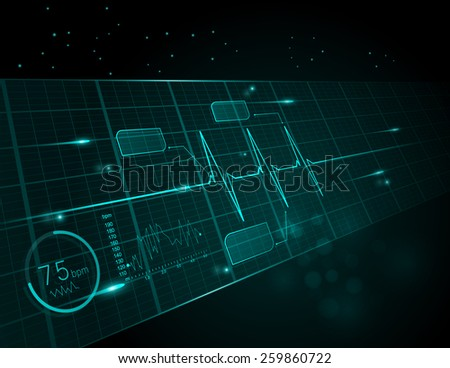 Heart cardiogram vector illustration  - stock vector