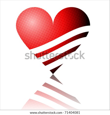 Heart collection icon, love symbol, vector Isolated on white