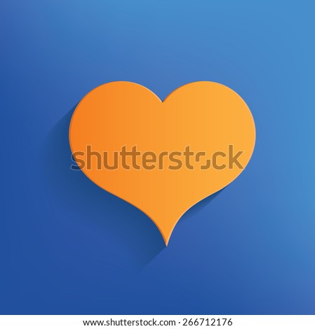 Heart design on blue background,clean vector - stock vector