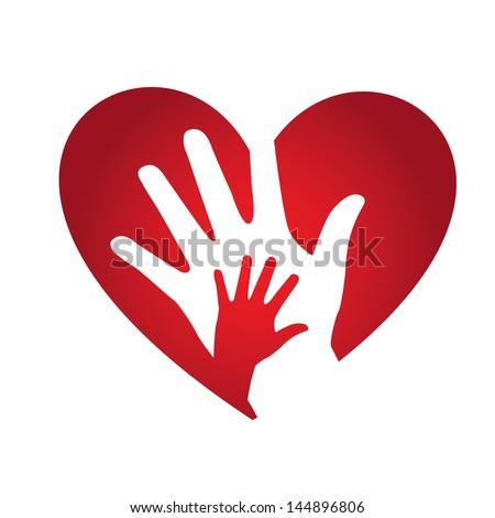 heart design over white background vector illustration - stock vector