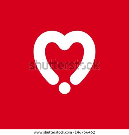 Heart Dot - stock vector