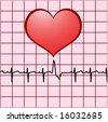 heart ekg - stock vector