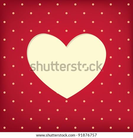Heart frame. Valentine card. Vector illustration. EPS10. - stock vector