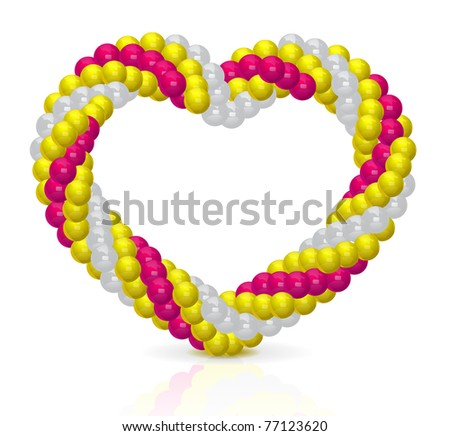 Heart from balloons - stock vector