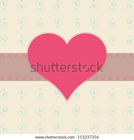 heart greeting card template vector illustration
