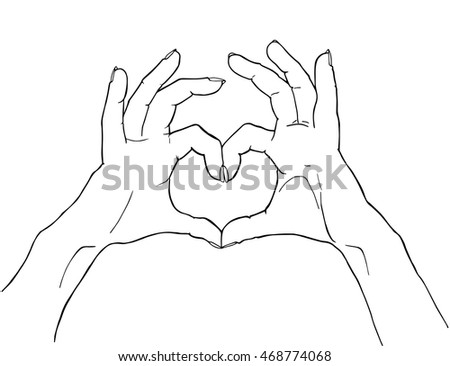 List Of Synonyms And Antonyms Of The Word Hand Heart Drawing