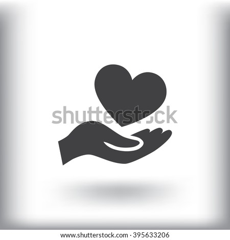 Heart icon, Heart icon eps10, Heart icon vector, Heart icon eps, - stock vector