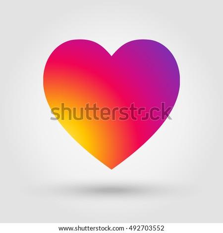 Heart Icon Style Instagram Banner 2018 Stock Vector 492703552