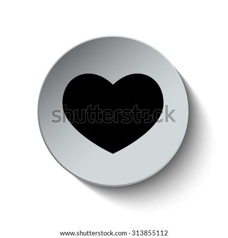 Heart icon. Love icon. Button. Vector illustration. - stock vector