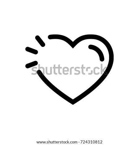 Heart Icon Vector Fat Design Editable Stock Vector 724310812