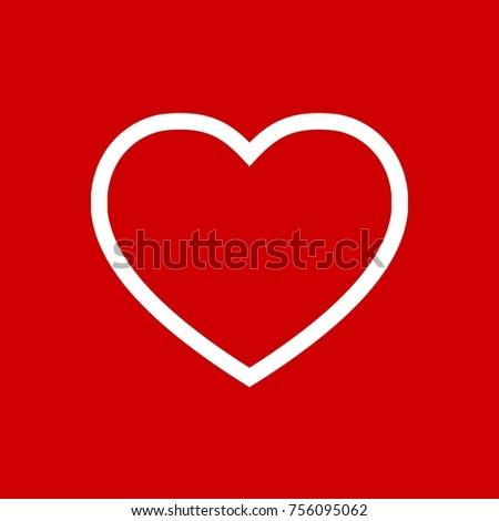 Heart Icon Vector Fat Design Editable Stock Vector 2018 756095062
