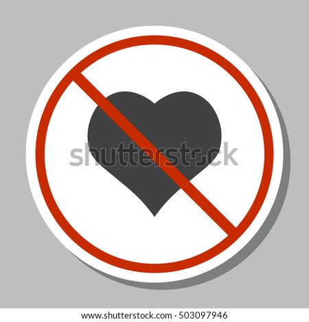 Heart Icon Vector flat design style
